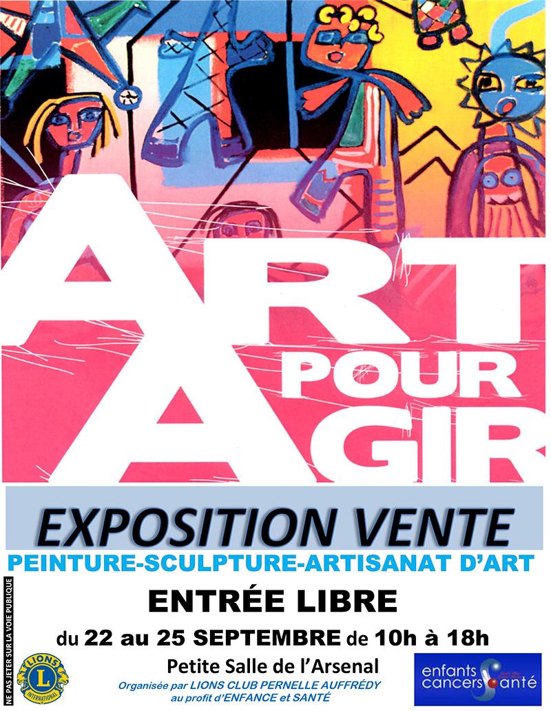 Affichep exposition vente lions club pernelle 2016